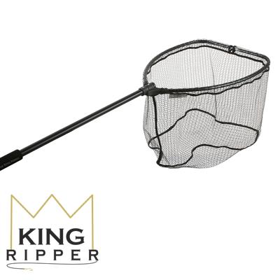 Podbierak z gumową siatką mikado KING RIPPER