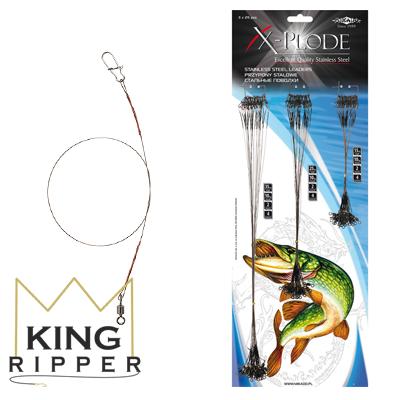 X plode przypony stalowe Mikado KING RIPPER