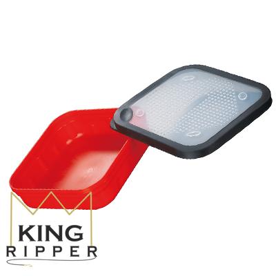 Czerwone pudełko na żywe przynęty Mikado KING RIPPER