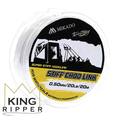 Przezroczysta linka przyponowa STIFF CHOD LINK 20m Mikado KING RIPPER