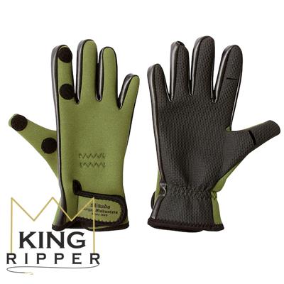 Rękawiczki Wędkarskie zielone Mikado KING RIPPER