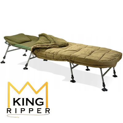 Łóżko Karpiowe ze śpiworem 4-SEASON Anaconda KING RIPPER
